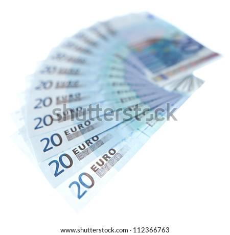 Euro bank notes twenty - stock photo