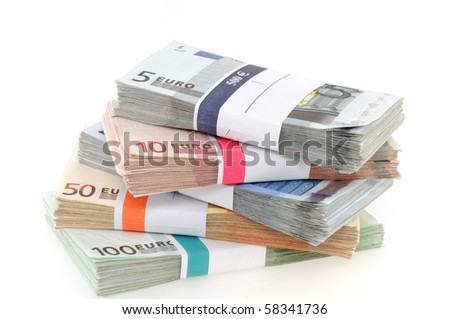 Euro-Banknotes in a studio shot