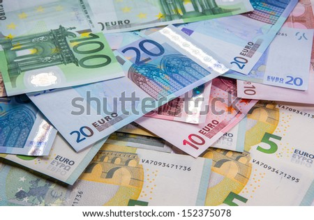 euro banknotes, the background