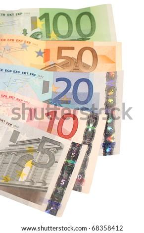 Euro bills - stock photo
