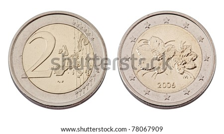 Euro coin,isolated on white