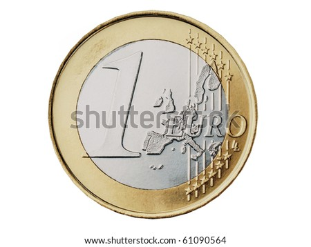 Euro coin isolated on white background