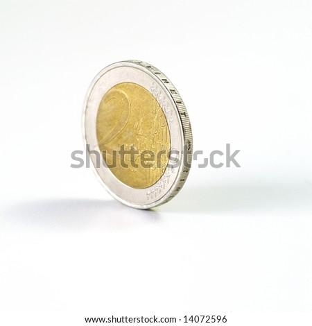 Euro Coin on white background