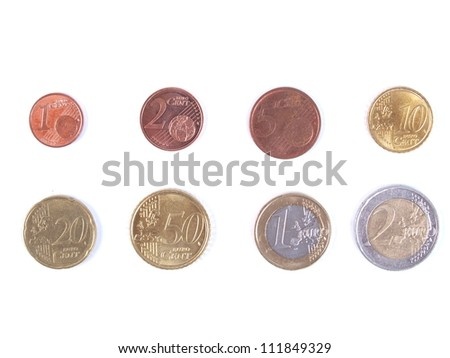 euro coins - international side
