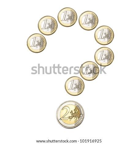 Euro coins question mark
