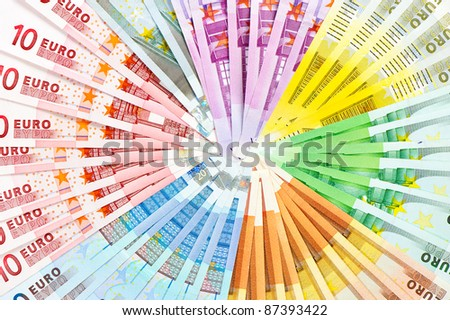 euro currency banknotes. money background