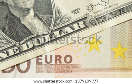 Euro dollar rate concept. Eur usd forecast photo. Eur usd exchange rate concept.