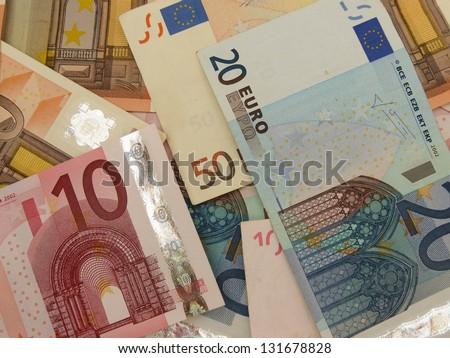 Euro (EUR) banknotes - legal tender of the European Union