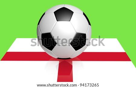 Euro 2012 football and England flag
