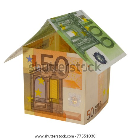 euro house isolated over white background
