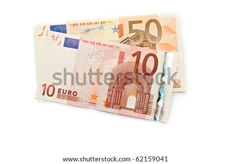 Euro isolated on white