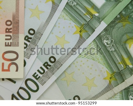 Euro (legal tender of the European Union) banknotes