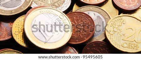 euro money background showing finance banking or savings concept