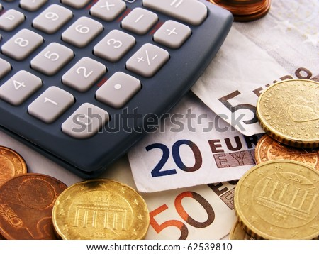 Euro money & calculator