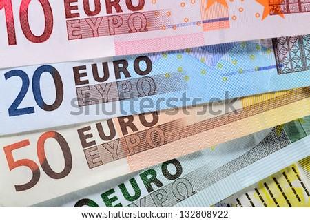 Euro money close up