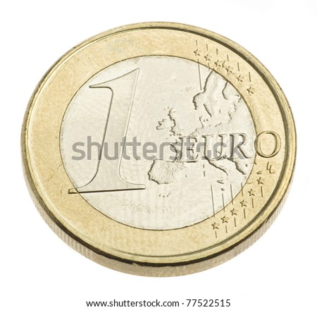 euro money coins isolated on a white background