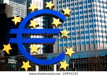 Euro symbol in front of the European Central Bank in Frankfurt