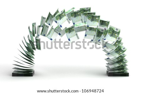 Euro Transfer (isolated with clipping path)