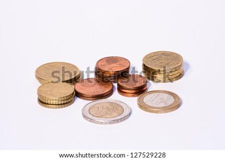 Eurom�¼nzen gestapelt
