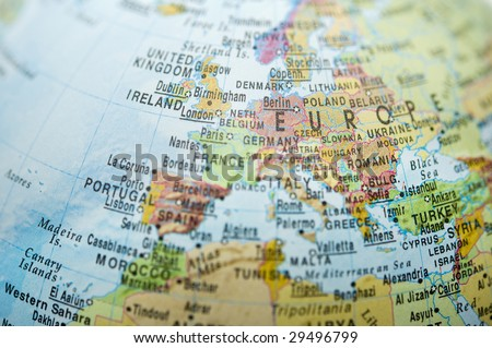 stock photo : Europe and North Africa map