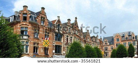 Europe cityscape - Brussels houses in Belgium