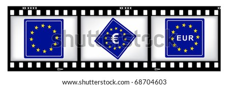 Europe currency on film