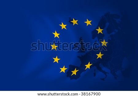 Europe flag background