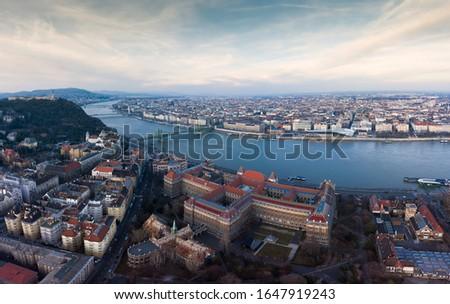 Europe, Hungary, Budapest aerial cityscape. Budapest university of technology and economics. BME. Stock fotó ©
