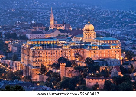 Europe, Hungary, Budapest, Castle Hill and Castle. City View