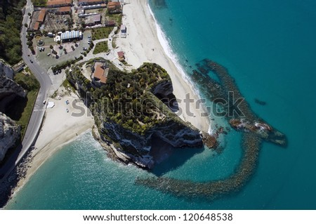 europe, italy, calabria, trope from above