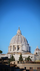 Europe, Italy, Rome, View of St. Peter's Basilica and St. peter's square at Vatican