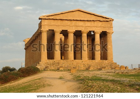 europe, italy, sicily, agrigento, Valley of Temples, Concordia temple