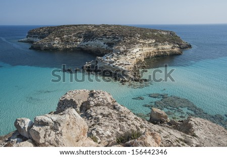 europe, italy, sicily, lampedusa, rabbit island beach