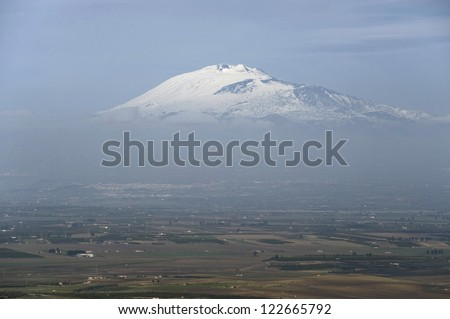 europe, italy, sicily, landscape with etna volcano