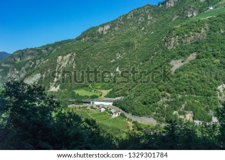 Europe, Italy, train from Bolzano to Venice, SCENIC VIEW OF LANDSCAPE AGAINST CLEAR SKY #1329301784
