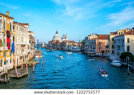 Europe. Italy. View of the Grand canal in Venice on a Sunny summer day #1222752577