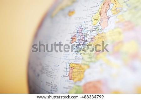 Europe on a Globe #488334799