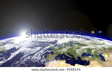 Europe seen from the space