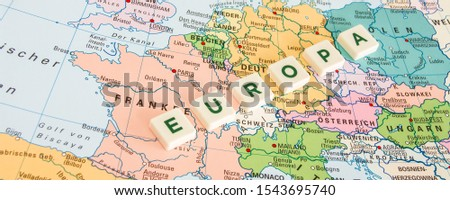 Europe symbol on map