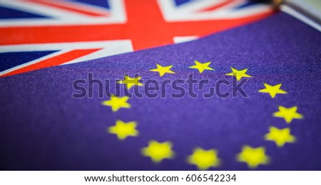 European and British Flag