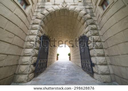 European architecture door entrance