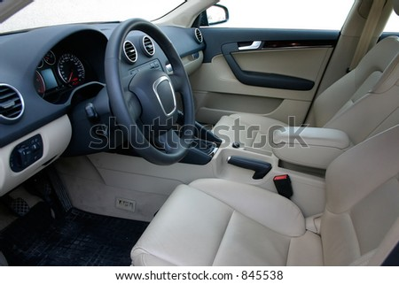 european car interior stock photo 845538 shutterstock. Black Bedroom Furniture Sets. Home Design Ideas