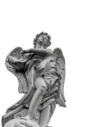 European church winged angel sculpture