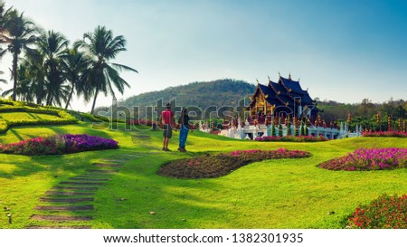 European couples tourists traval to Thailand. welcome to thailand. unseen in thailand #1382301935