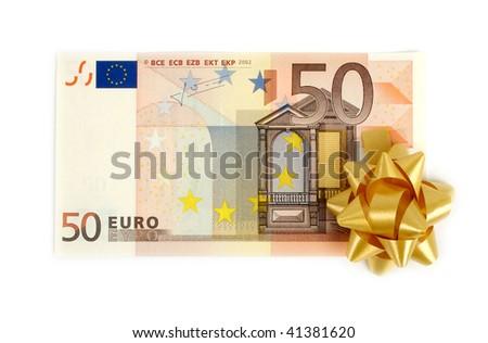 European fifty euro paper bills