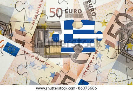 European financial crisis concept: Greece out of the euro-zone