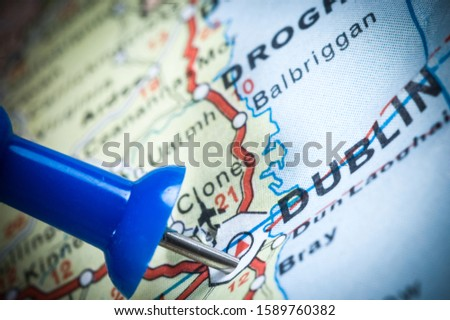 european map and european country