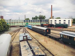 european old trains in hungary
