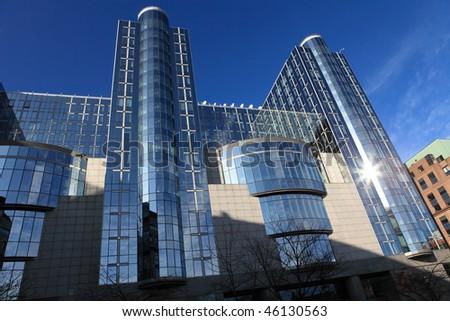 European Parliament Building in Brussels, Belgium