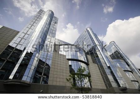 European Parliament towers - Brussels, Belgium